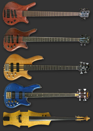 Mark Williams' bass collection